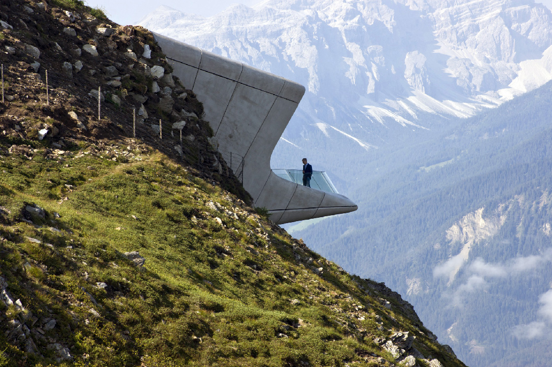 Messner Museum Corones Zaha Hadid 1 - Riccardo Bianchini architectural photography